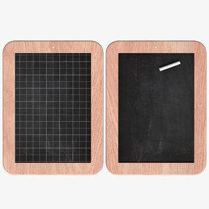3D chalkboard office model