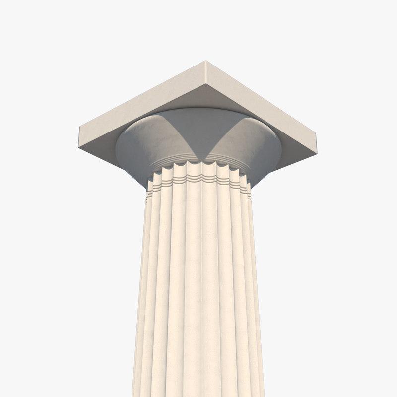 3D doric column
