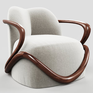 3D giorgetti hug armchair model