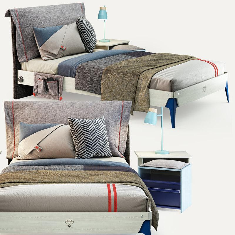 cilek trio bed 3D model
