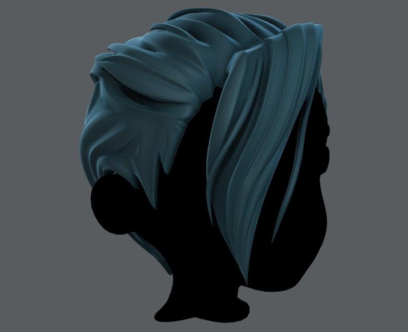 hair style boy v36 3D model