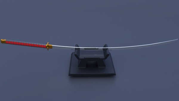 3D model samurai odachi