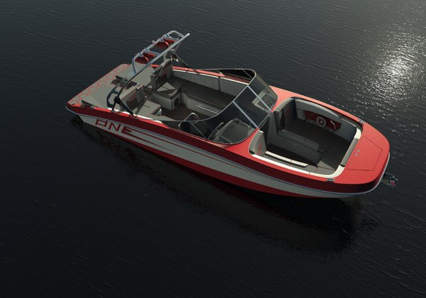 custom speed boat 3D model