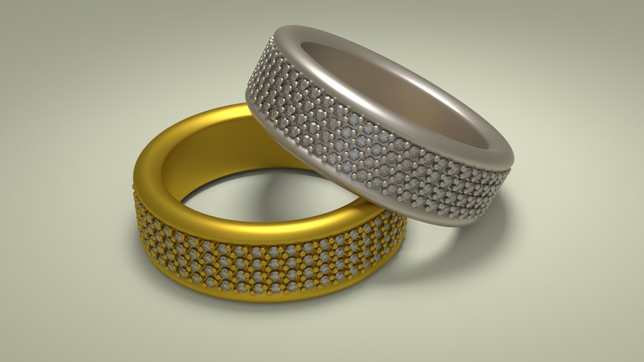 gold silver 3D