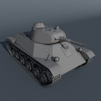 t-50 light tank soviet 3D model