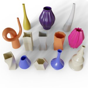 decorative vases 3D model