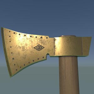 axe 1 3D model