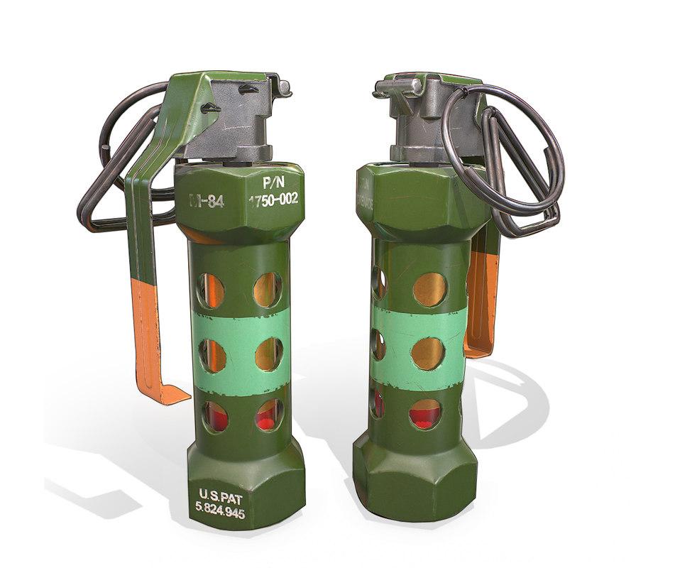3D grenade pbr