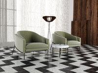 fil armchairs floorlamp 3D model