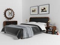 malaga bedroom set 3D model