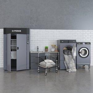 podab swedish laundry 3D model