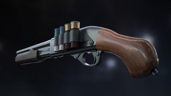 3D shotgun remington sbs model