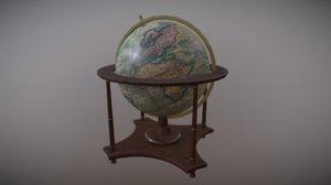 3D model antique nautical globe