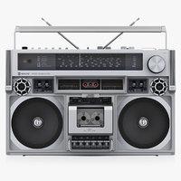 3D retro boombox jvc rc-838
