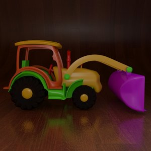 3D toy tractor model