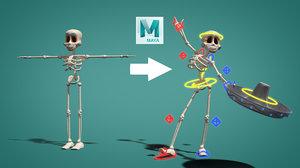 2018 skeleton bones rigged 3D model
