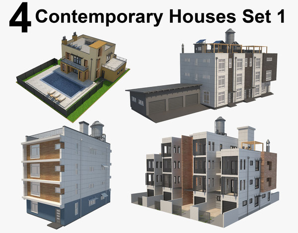 house contemporary 3D