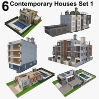 6 Contemporary Houses Set 1