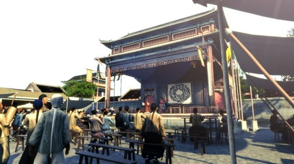 3D china stage ancient