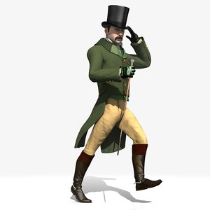 regency man rigged 3D model