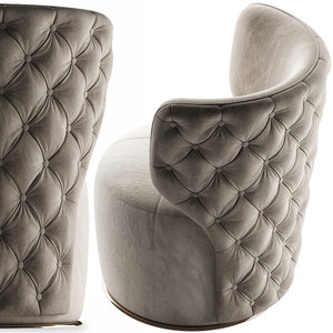 3D buttoned swivel chair model