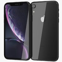 3D realistic apple iphone xr