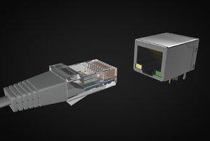 connector ethernet socket model
