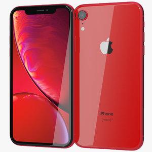 realistic apple iphone xr 3D model