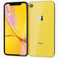 realistic apple iphone xr 3D model