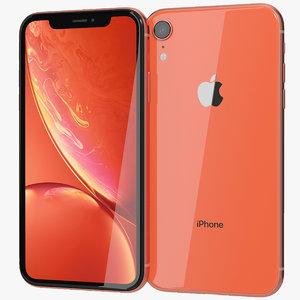 3D realistic apple iphone xr model