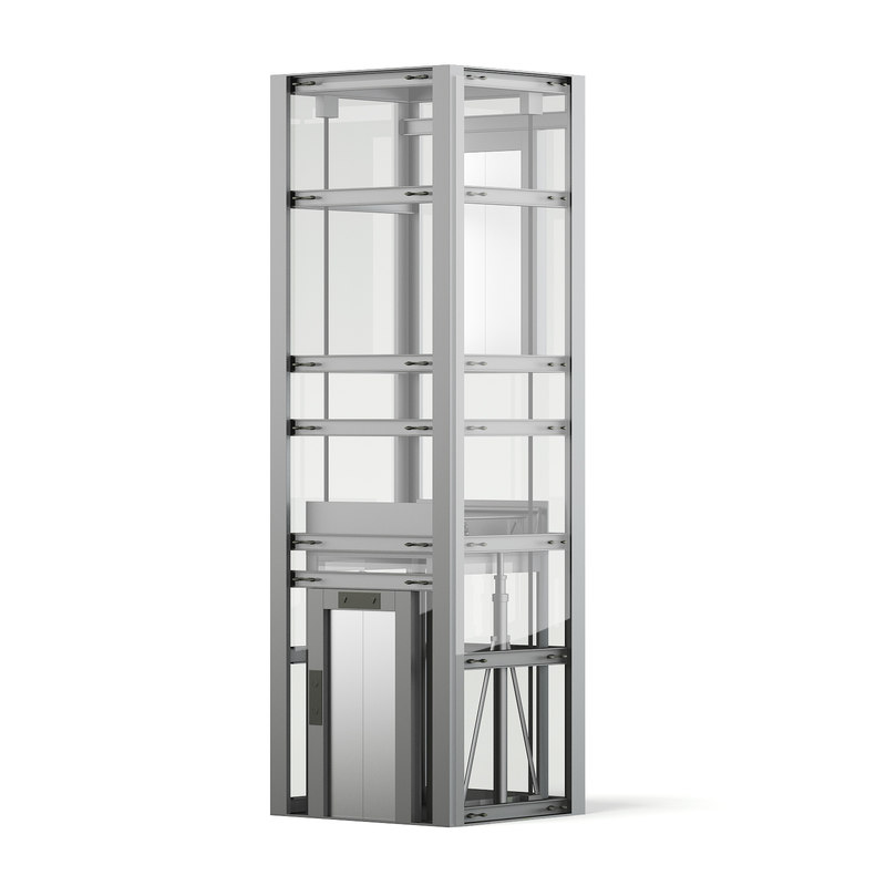 3D glass elevator
