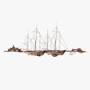 3D curtis jere ships harbor model
