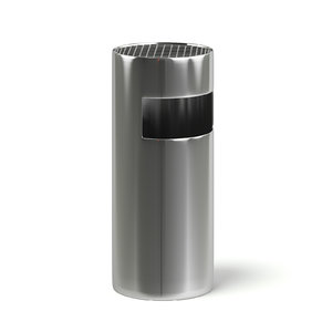 3D model metal recycle bin