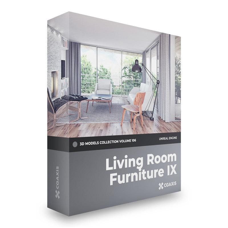 furniture volume 106 unreal 3D model