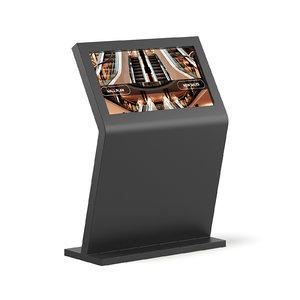 3D black mall display model