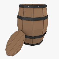 Barrel Prop Lowpoly