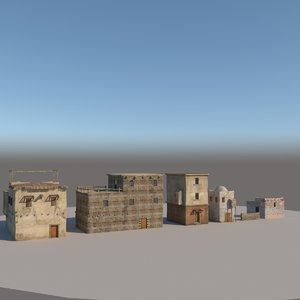 3D old houses