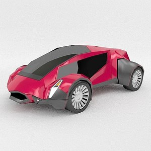 3D futuristic vehicle concept