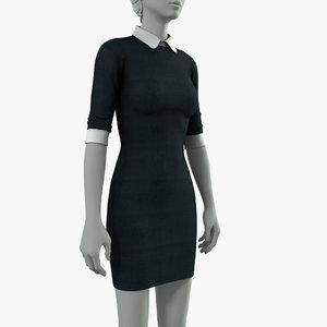 3D knitted dress