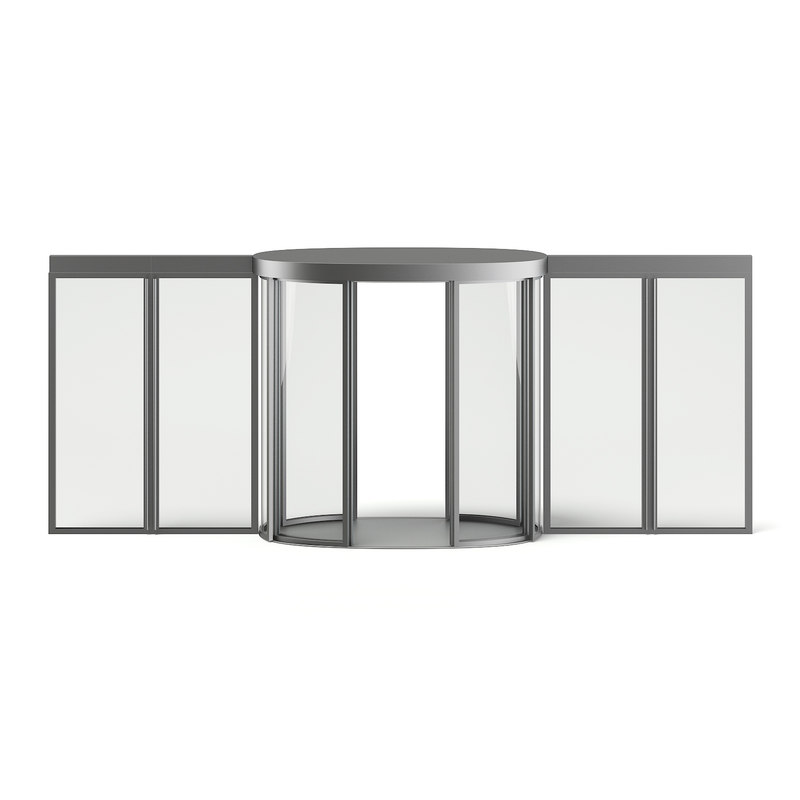 glass metal mall entry door 3D model