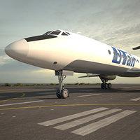 3D tupolev tu-134 tu model