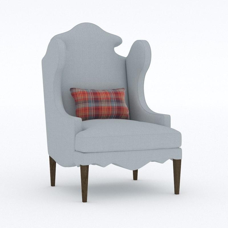 3D armchair sofa chair