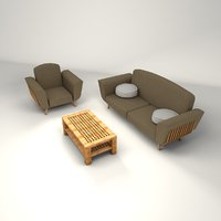 sofa armchair - 3D model