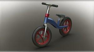 balance bike 3D