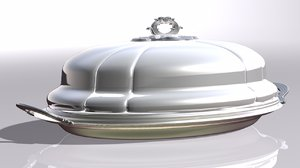 stainless steal cloche 3D model