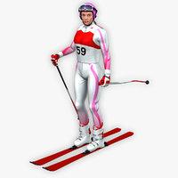 ski 3D model