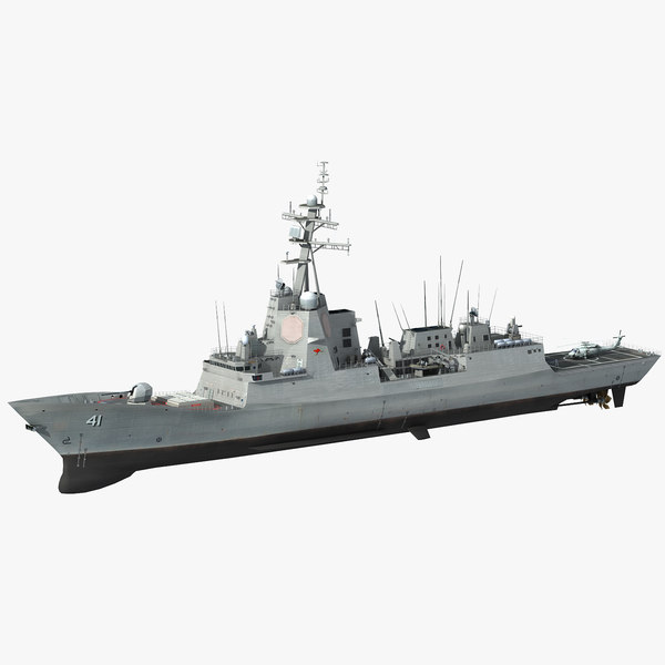 hmas brisbane 41 class destroyer model