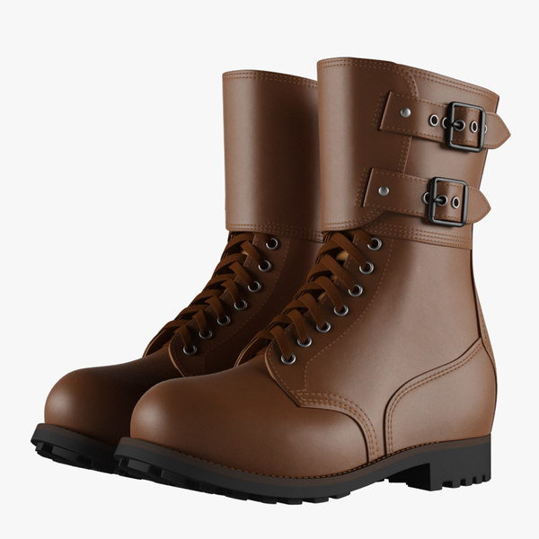 french military boots 3D model