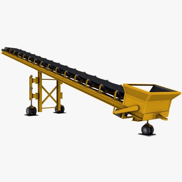 3D mobile belt conveyor model