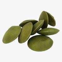 realistic green lentils 3D model
